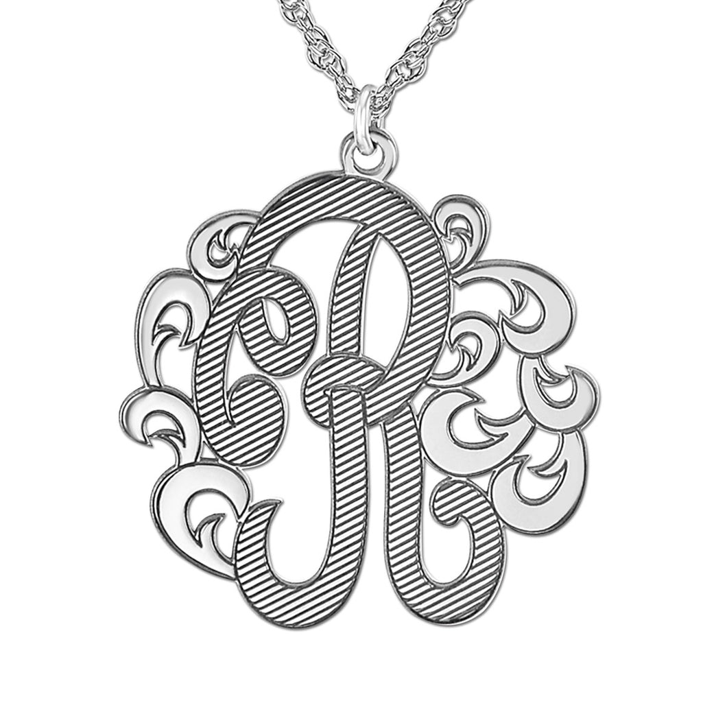 Personalized, Single Script Letter Pendant (Special Order Custom)