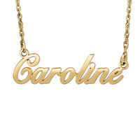 "Signature Sweet ""Caroline"" Brush Script Necklace (Special Order Custom Product)"