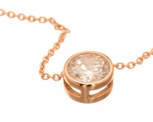 8 mm CZ Solitaire  Necklace