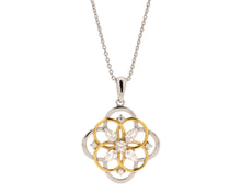 Concentric Circles Pendant with Pear and Round Shaped Stones