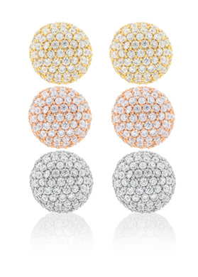 "12 mm Disco ""BLING"" Ball Earring"