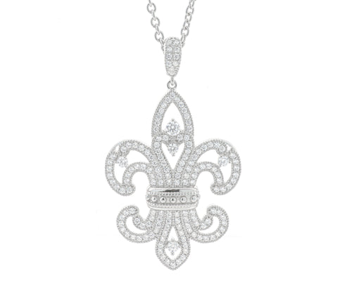 Fancy Sterling Silver Fleur de Lis Enhancer