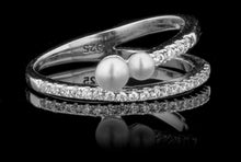 Double Pearl By-Pass Ring(pre-order April 2021)