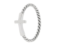 Braided Horizontal Cross Ring (pre-order early April 2021 delivery)