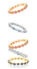 Stacker Rings Gemstone Color -Silver