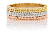 Crowning Glory Tri-Color 3 Stack Rings (sold as set)