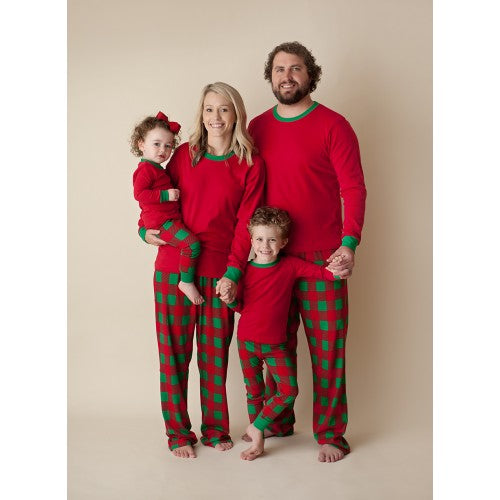 Green and Red Plaid Christmas Pajama Set