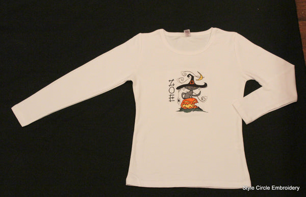 Halloween Girls Cotton Long Sleeve Tee Shirt