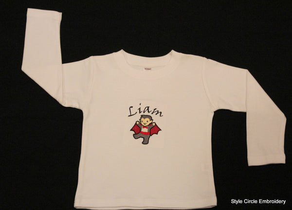 Little Vampire Long Sleeve Cotton Tee Shirt