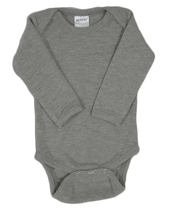 Interlock Long Sleeve Baby Onesie