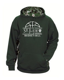 Badger -St. Jude Youth Digital Camo Colorblock Performance Fleece Hooded Sweatshirt