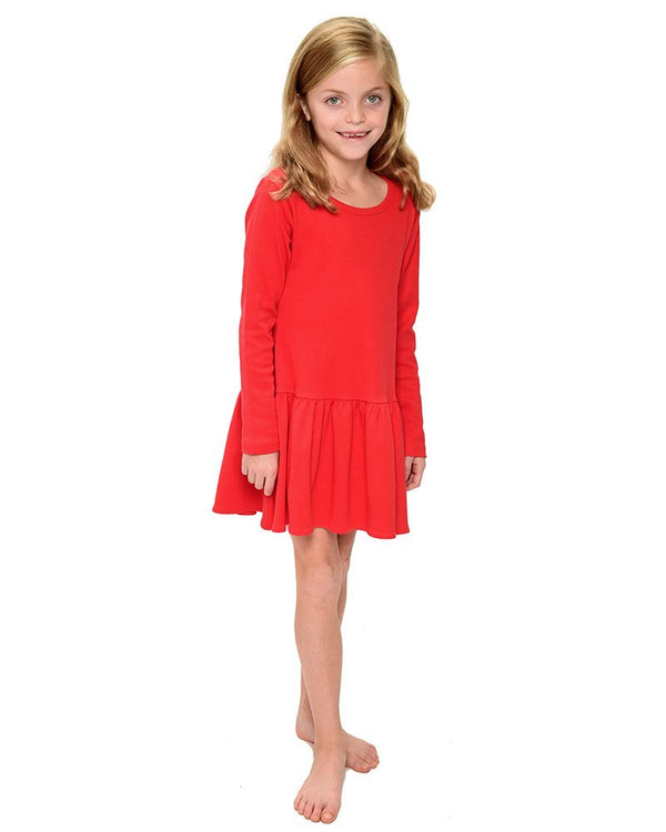 Blank Monag Long Sleeve Ruffle Dress