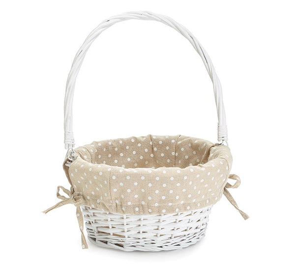 Khaki Polka Dot Easter Basket