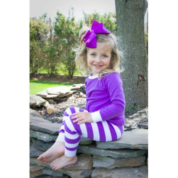 Children's Personalized Striped Little Witch Pajamas