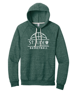 St. Jude JERZEES ® Adult Snow Heather French Terry Raglan Hoodie