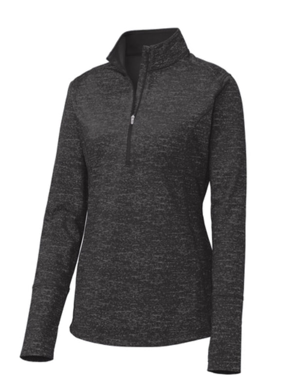 Sport-Tek ® Ladies Sport-Wick ® Stretch Reflective Heather 1/2-Zip Pullover