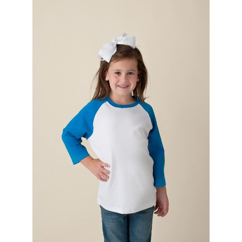 Unisex Blue and White Raglan Shirt