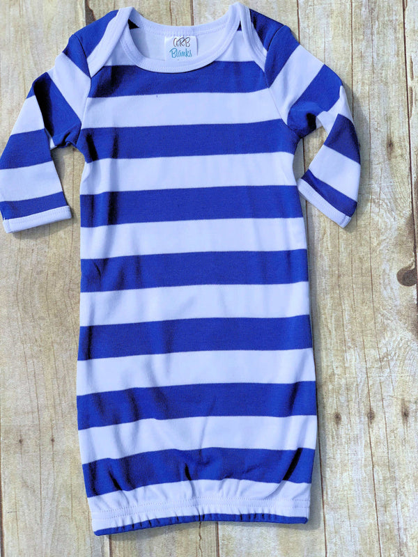Blue and White Baby Gown