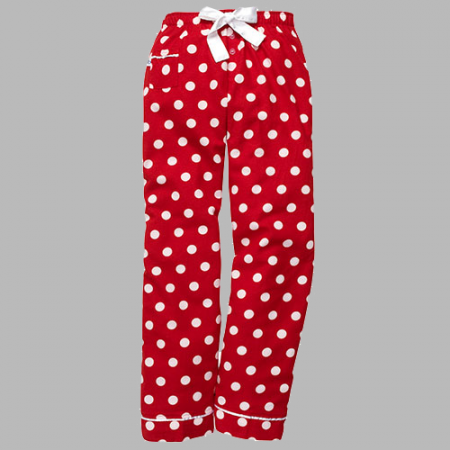 Red Polka Dot Youth Flannel Pants