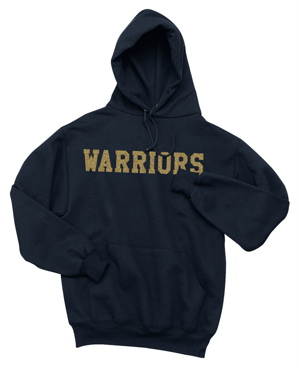 Warror Glitter Heavy Hooded Sweatshirt
