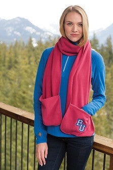 Personalized Extra Long Fleece Scarf with Pockets