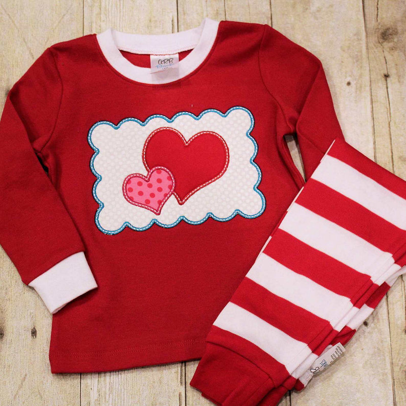 Valentine Striped Christmas Pajamas
