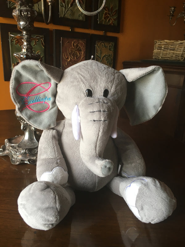 "PLUSH 16"" GRAY ELEPHANT WITH FLOPPY LEGS"