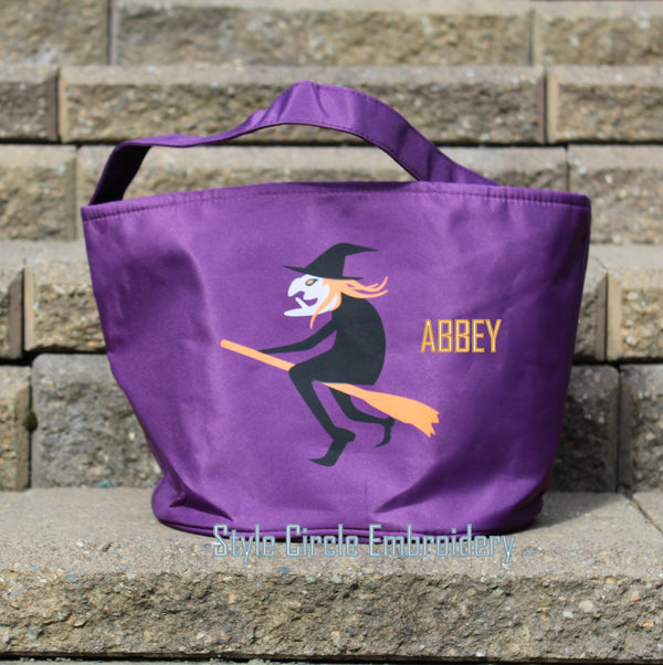 Personalized Witch Halloween Tote