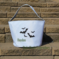 Personalized Halloween Bat Trick or Treat Bag