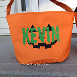 Personalized Pumpkin Halloween Tote