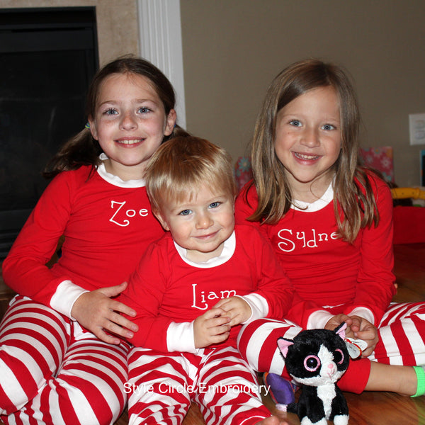 Personalized Holiday Pajamas