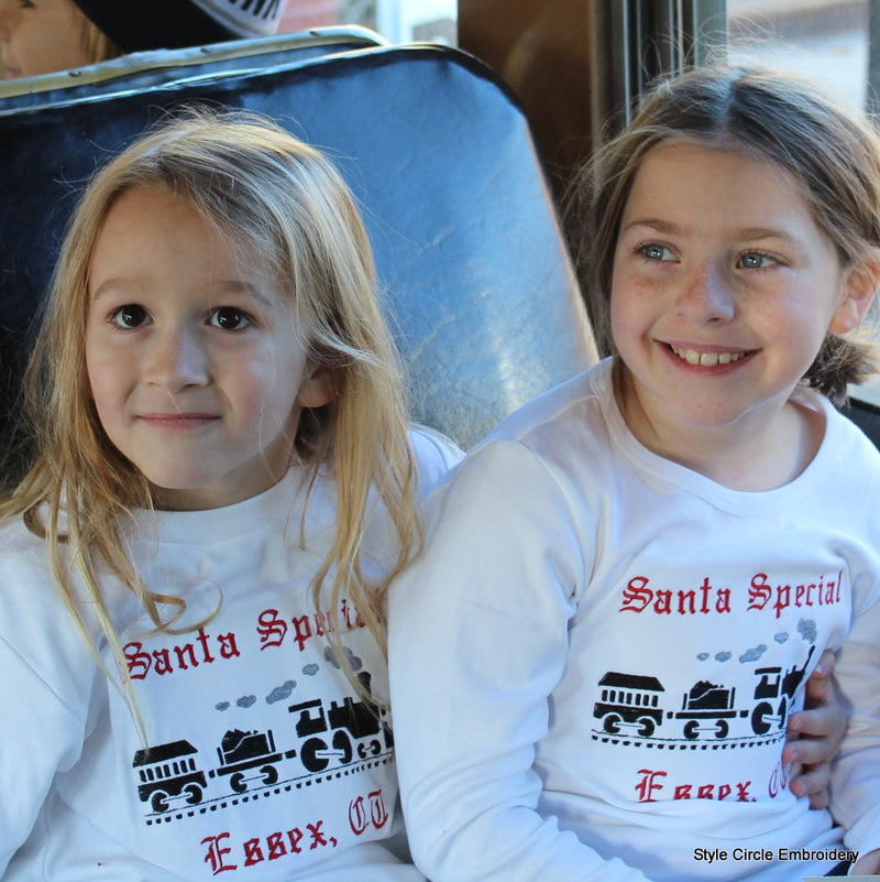Santa Special Train Long Sleeve Tee Shirt