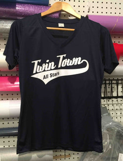 Twin Town Ladies V-Neck Performance Tee