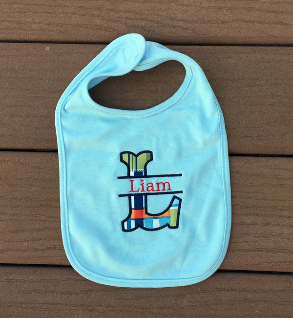 White Cotton Personalized Baby Bib