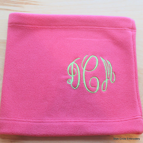 Monogrammed Fleece Neck Gaiter