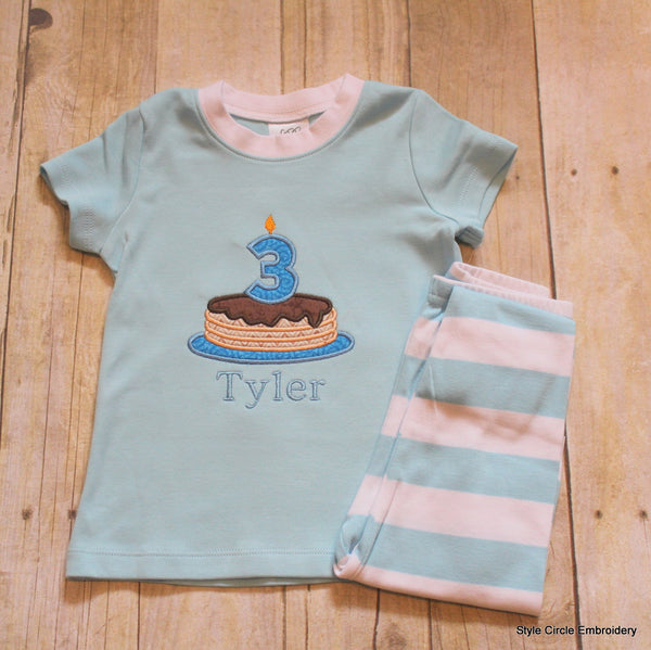Personalized Short Sleeve Children's Pajama Set