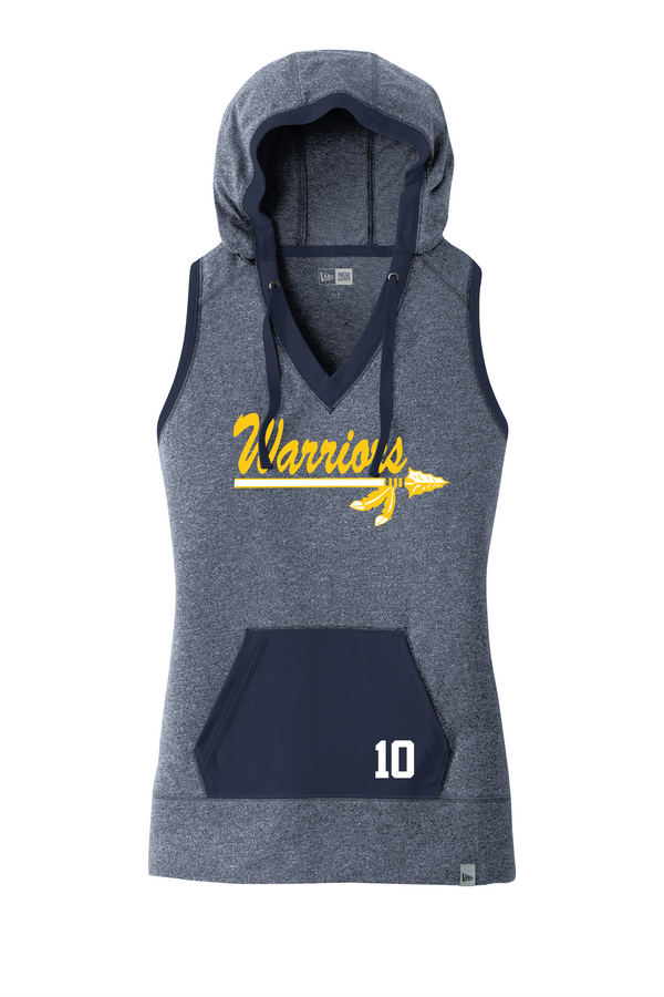 Warriors New Era Ladies Heritage Blend Hoodie Tank