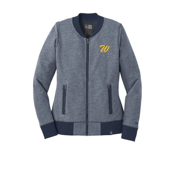 Warriors Ladies French Terry Baseball Full-Zip