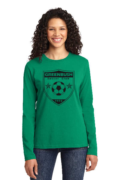 Greenbush Soccer Port & Company Ladies Long Sleeve Core Cotton Tee