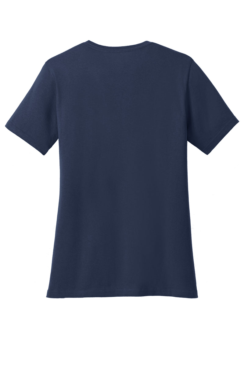 Port & Company® Ladies Core Cotton V-Neck Tee