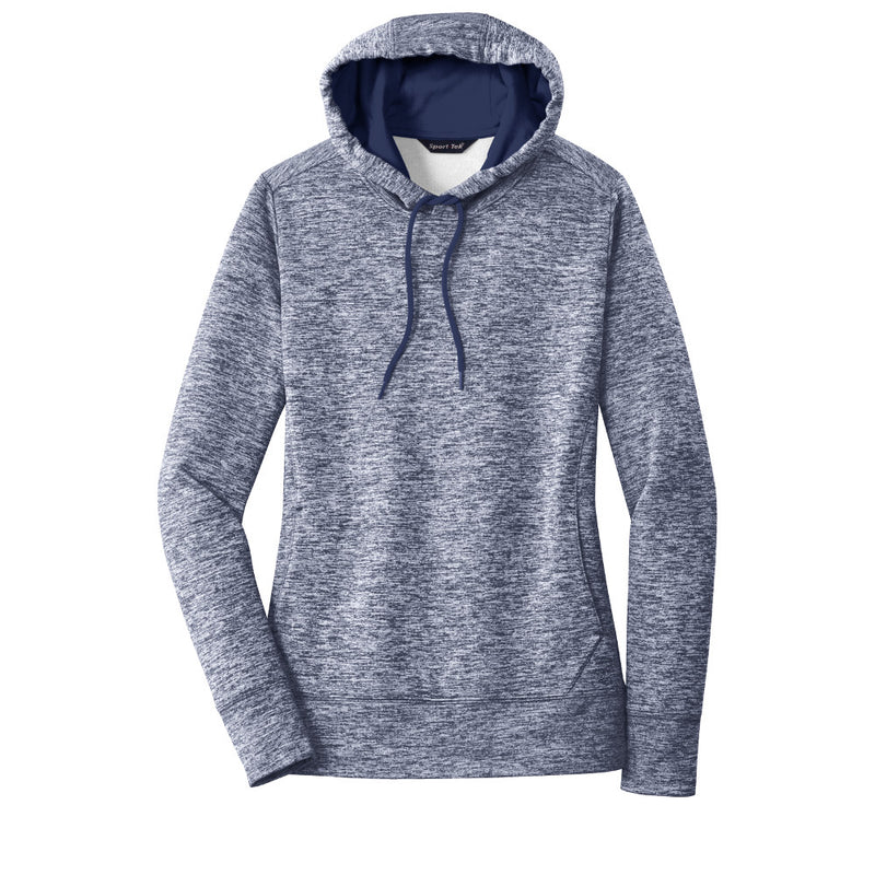 Goff Sport-Tek Ladies PosiCharge Electric Heather Fleece Hooded Pullover