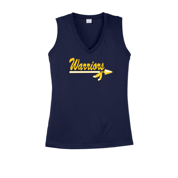 Warriors Sports Tek Ladies V-Neck Tank