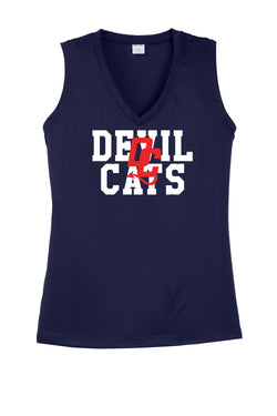 Devil Cats Ladies V-Neck Tank
