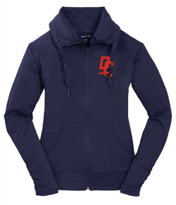 Devil Cat  Sport-Tek Ladies Sport-Wick Stretch Full-Zip Jacket