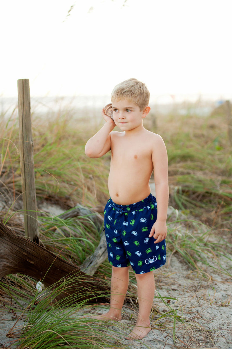 Get Crabbing Boys' Swim Trunks