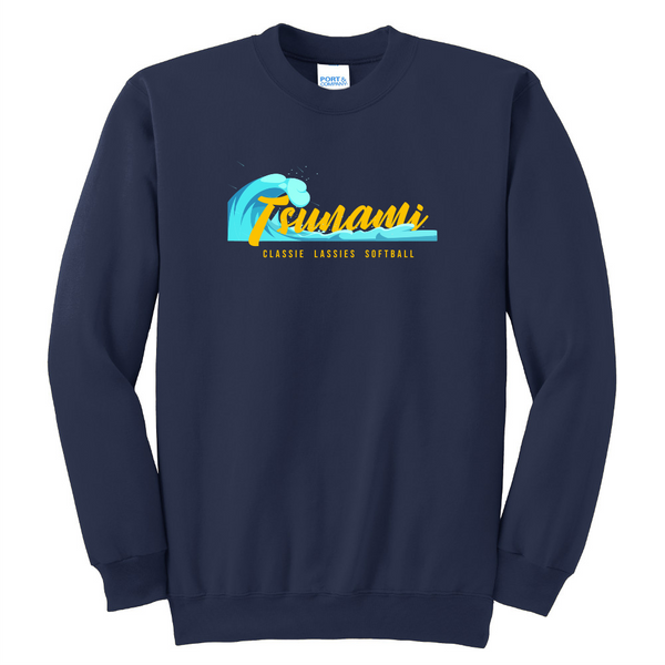 Tsunami  Unisex Port & Company Essential Fleece Crewneck Sweatshirt