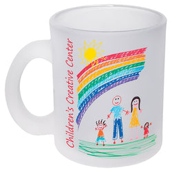 Personalized Frosted Glass Mug
