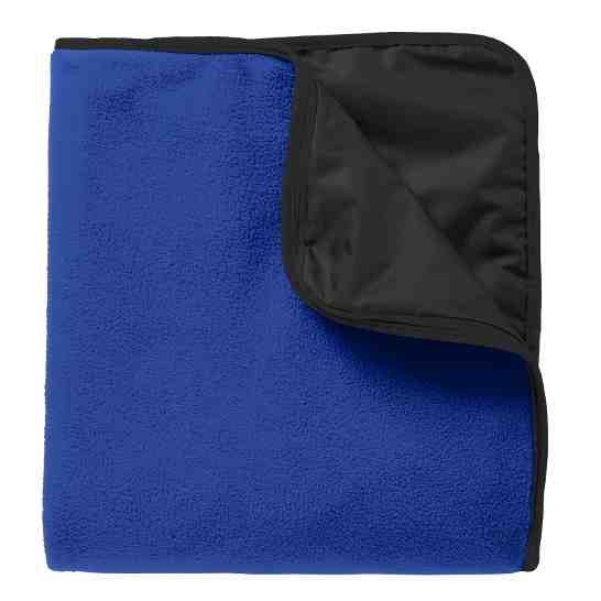 Bell Top Fleece & Poly Travel Blanket