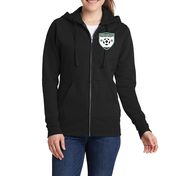 Greenbush Soccer Port & Company® Ladies Core Fleece Full-Zip Hooded Sweatshirt
