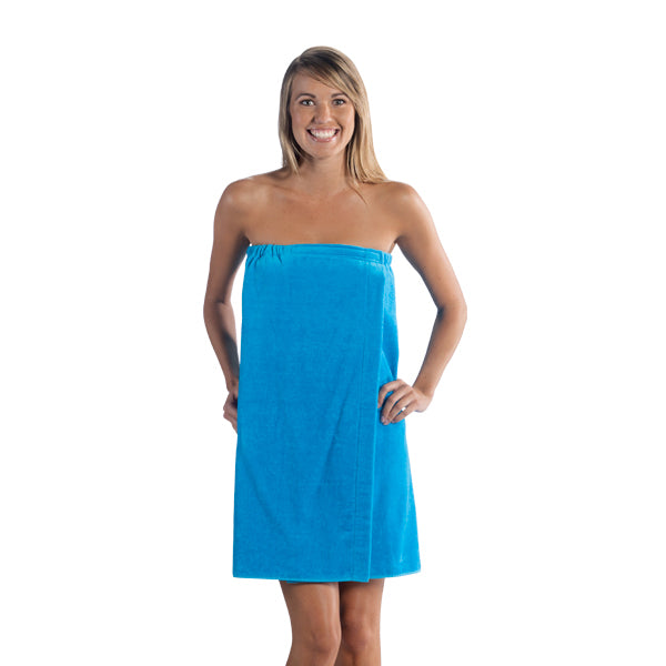 Women's Terry Velour Tropical Spa Wrap